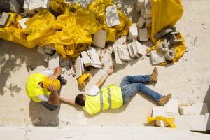 construction worker injured as a result of a fall