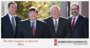 Morris, King & Hodge, P.C. Best Lawyers 2020