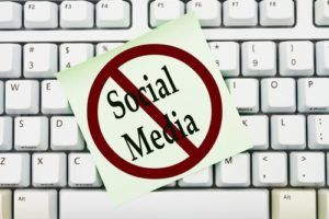 stay away from social media during a personal injury case review