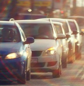 cars in traffic Dallas car accident lawyer