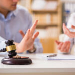 discussing alimony case with attorney