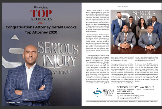 Gerald Brooks Named Top Attorney by Birmingham Magazine