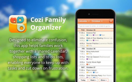 This app helps families work together with a shared calendar, shopping lists and to do lists, enabling everyone to keep up with tasks and cut down on frustration.