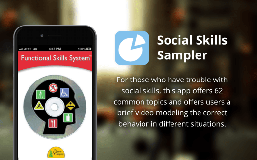 For those who have trouble with social skills, this app offers 62 common topics and offers users a brief video modeling the correct behavior in different situations.