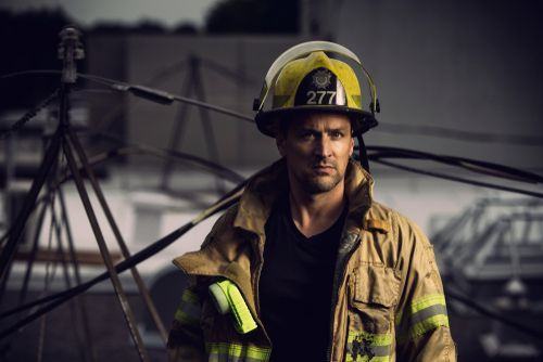 firefighter at the scene of an accident