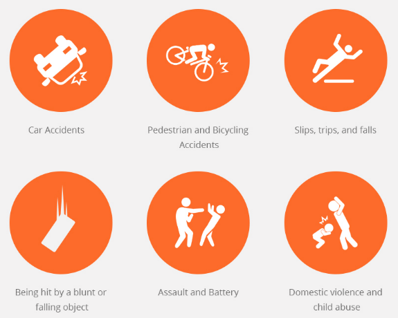 Common causes of traumatic brain injuries include: