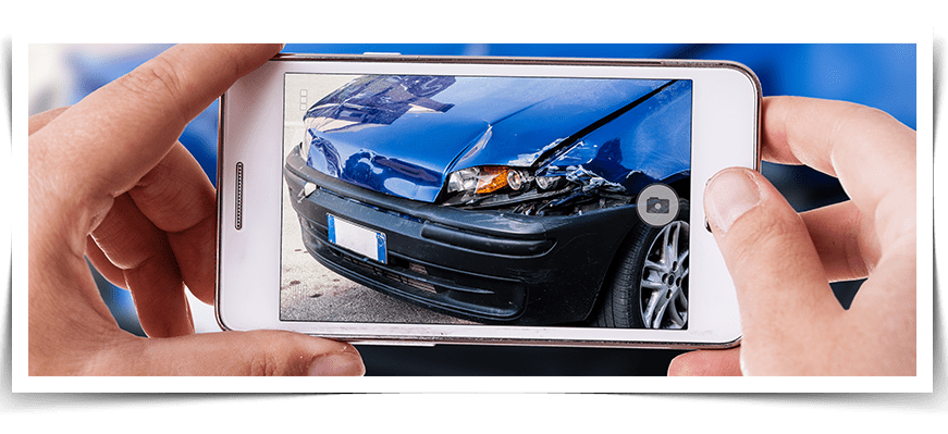 taking photos of accident damage