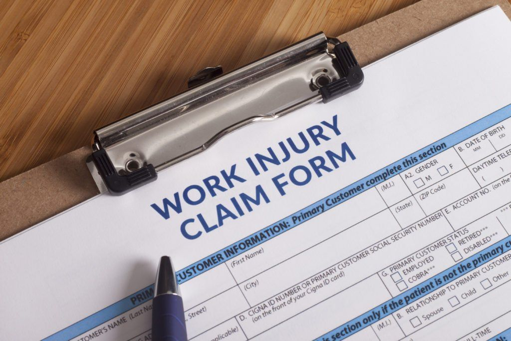 Picture of workers injury claim form