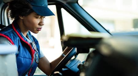 delivery driver working