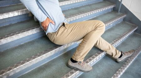staircase slip and fall
