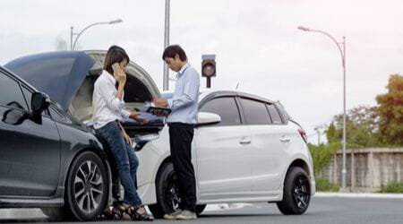 exchanging information after car accident