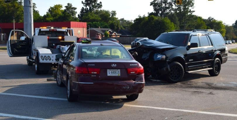 Cars involved in accident