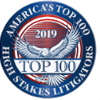 America's Top 100 High Stakes Litigators 2017® Recipient Award