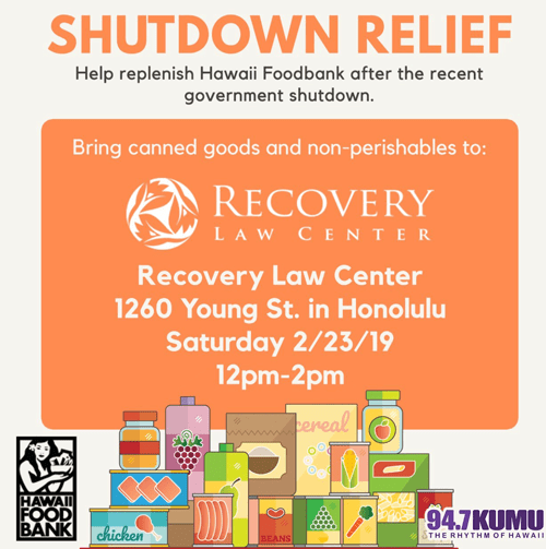 Hawaii Government Shutdown Relief