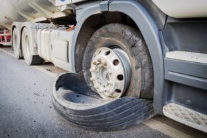 Is a tire blowout an at fault accident?