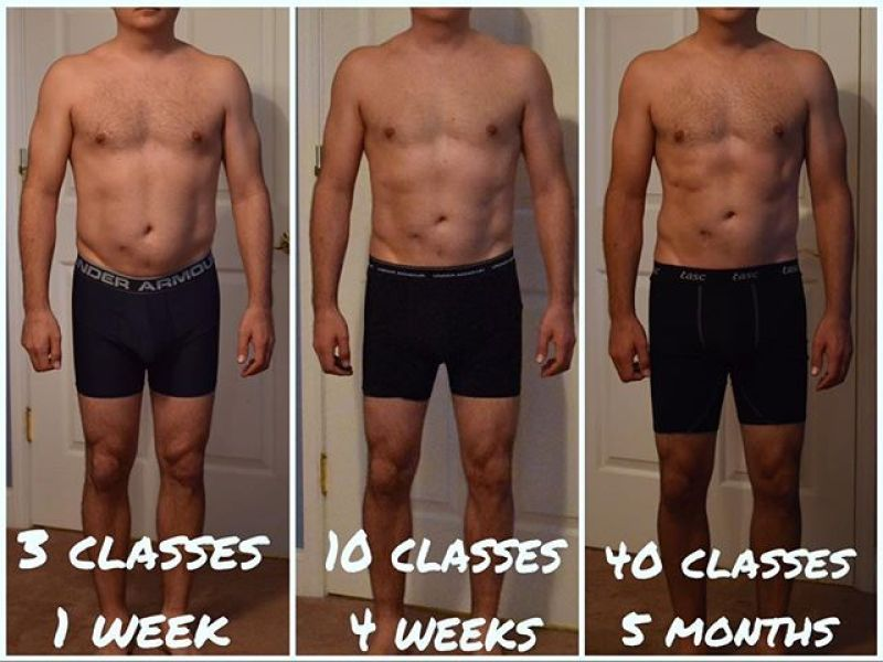 Corus45 progression photos after working out
