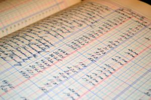 Retirement budgeting on white graph paper