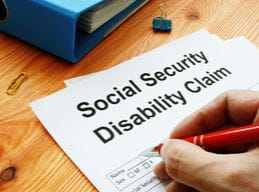 man filling social security disability claim