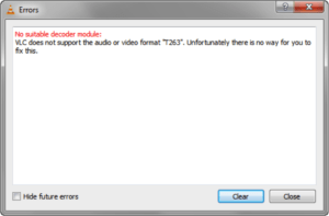 convert digital evidence to be used with vlc