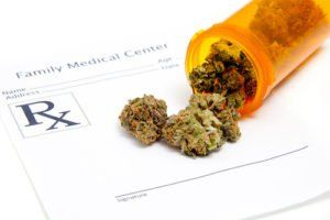 medical marijuana on a prescription pad
