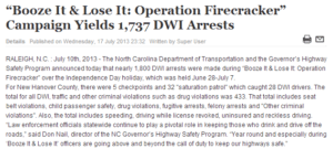 booze it & looze it yields 1737 dwi arrests