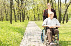 Elder law effects man in wheelchair and his access to a home health nurse.