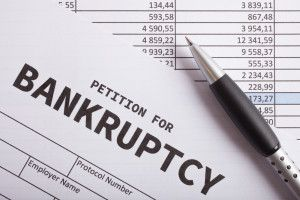 Paperwork for Petition for Bankruptcy