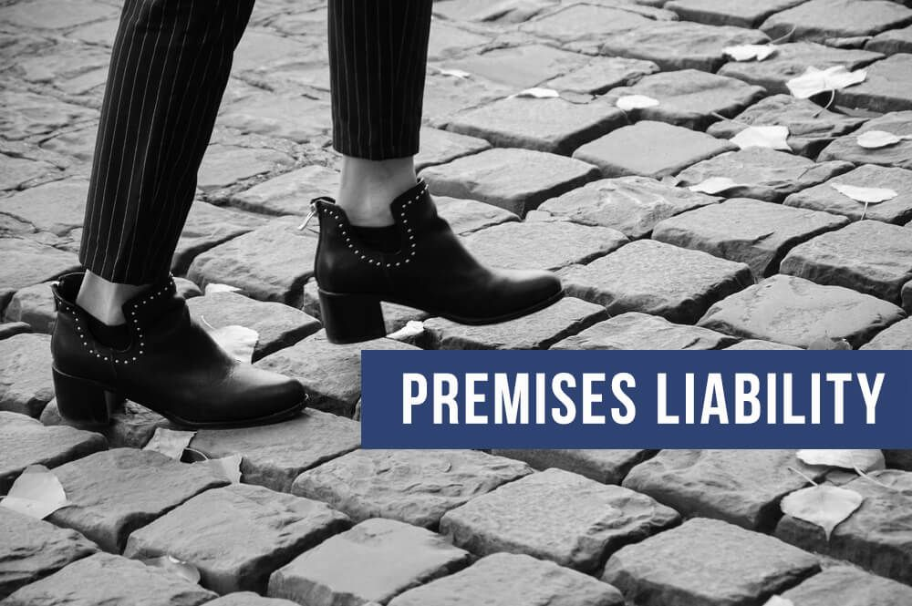 Premises Liability governs falls that occur due to negligence such as loose stones.