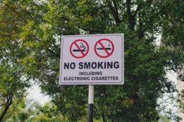 Picture of Vape Ban Sign at Texas A&M