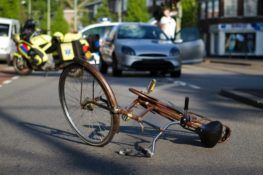 bicycle in the middle of the road after accident