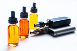 electronic cigarette and fluid