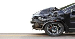 wrecked front of a car after a car accident