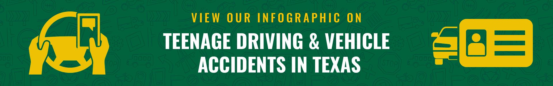button for teenage driving infographic