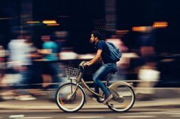 man on a bicycle ride