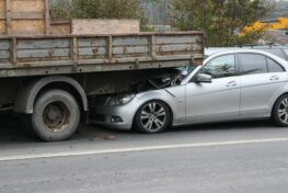 semi truck accident with a car
