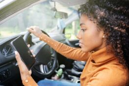 distracted teen driver