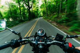 motorcycle running fast on the road
