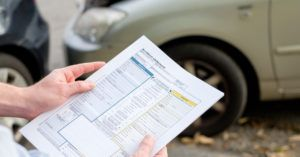 Insurance claim assessment for car accident.