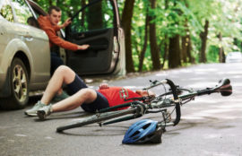 A man is injured in a bike accident in Tulsa, Oklahoma