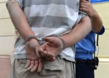 Man being arrested for percocet possession