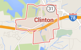 Screen shot of google map for Clinton New Jersey.