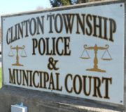 Photograph of the sign Clinton Township Police Department & Municipal Court.