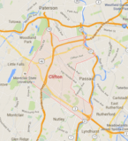 Map of Clifton New Jersey and surrounding area taken from google maps.