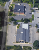 Aerial photograph of Cinnaminson Municipal Court and Police Department.