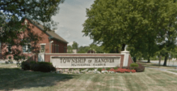 Photograph of the front of the Hanover Township Municipal Court & Police State.