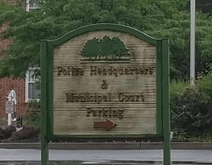Photograph of sign for Cherry Hill Municipal Court