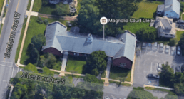 Aerial photograph of Magnolia Municipal Court.
