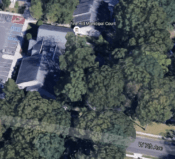 Aerial photograph of Pine Hill Borough Municipal Court.