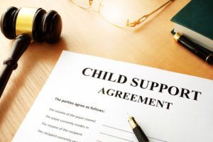 Child support after separation.
