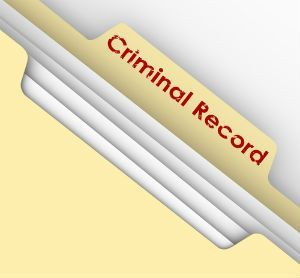 A New Jersey criminal record being expunged.